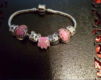 Baby Girl - Pink Panda Bracelet