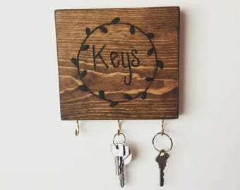 Wood Key Hanger