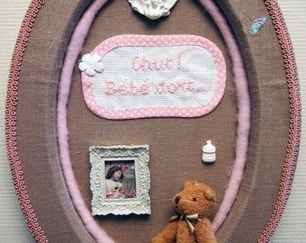 Oval frame - newborn little girl