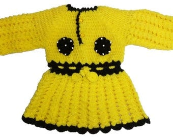 Rivaj India Woolen Hand Knit yellow sweater for kids