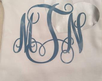 Monogrammed onesie