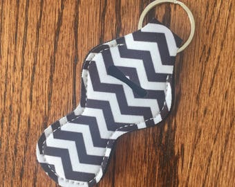 Black Chevron Chapstick Holder Wholesale Party favor Other colors available Neoprene Keychain