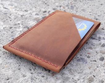 Leather card holder wallet Leather wallet Front pocket wallet  Small wallet Card holder leather Card case Credit card case business card