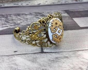 BRACELET embroidered gold