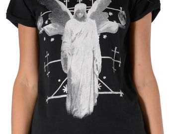 G Crescent Angel Tee - Black