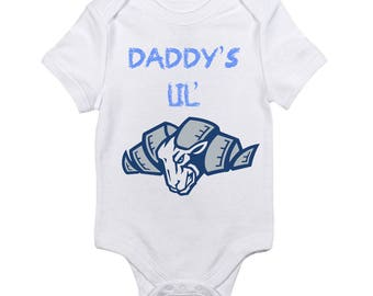 North Carolina Daddy's Little Tarheel UNC Logo Baby Onesie
