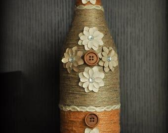 Decorative Button Bottle
