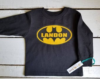 Personalized Batman long sleeve (t-shirt by Rabbit Skins)