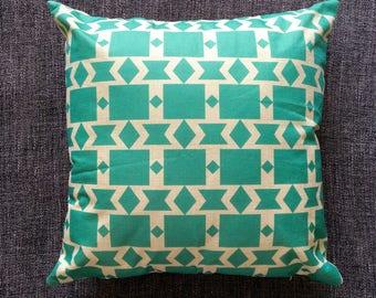 Blue Nordic Moroccan Geometric Cushion Cover, Pillow Cover, Decorative Cushion, Throw Pillow, 45cm