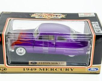 Motor Max Red Box 1949 Custom Mercury 1/24 Scale Diecast Model Car # 68025