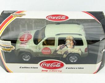 Ultra Rare Matchbox Collectibles Coca Cola G.I. Jeep Liberty 1/18 Diecast Car