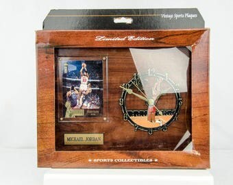 Ultra Rare 1995 Upper Deck The Michael Jordan Collection Clock & Plaque