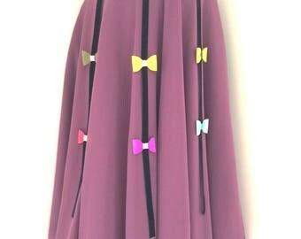 Girls twirl skirt, girls party skirt, back to school skirt, girls purple skirt, bow skirt