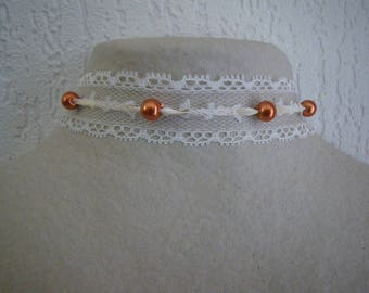 Choker necklace, Choker with lace chic