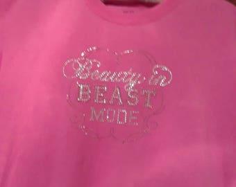 Beauty In Beast Mode Rhinestone T Shirt