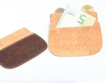 Cork money clip, slim wallet, slim money clip, thin cork wallet