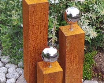 3 Garden columns - grate/stainless steel