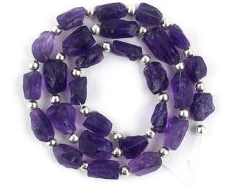 1 Strand Natural Purple Amethyst,Rough Uneven Shape Amethyst,6x9-9.5x15mm,Amethyst,Natural Amethyst,Amethyst,Rough Stone Amethyst,Wholesale