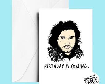 Game of thrones birthday card