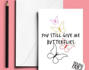 You still give me butterflies card