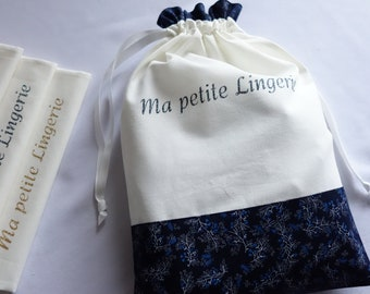 Marine flowers lingerie pouch
