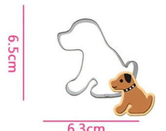 Puppy Cookie Cutter - Doggie Fondant Biscuit Mold - Pastry Baking Tool Set
