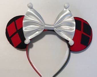 Harley Quinn inspired mickey ears!!