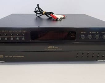 JVC XL-F254 5 Disc CD Automatic Changer Player Black With Cables 1977