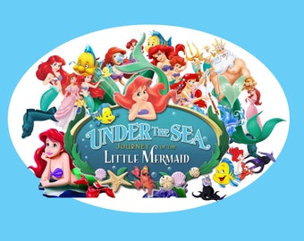 39 The Little Mermaid Clipart - Digital , PNG, image, picture, oil painting, drawing,llustration, art , birthday,handicraft 300 DPI, 300 PPI