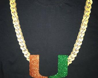 Miami Hurricane Turn Over Chain Shirt