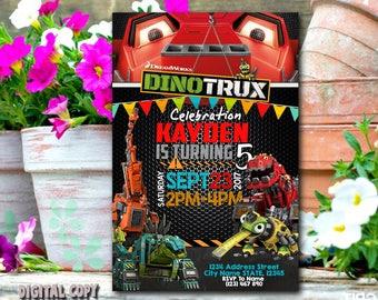 Dinotrux Invitation / Dinotrux Birthday / Dinotrux Party / Dinotrux Card / Dinotrux Printable / Dinotrux Birthday Party / Dinotrux_BS145