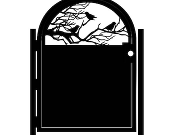 Decorative Steel Gate - Steel Panel Art - Outdoor Garden Gate - Metal Art - Birdie