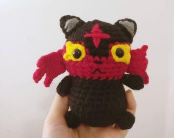 Litten Pokemon Sun and Moon Crochet Doll Plush/Plushie Stuffed Character Chibi Amigurumi