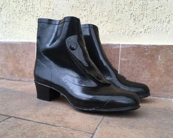 Rain boots black with button size eu: 40