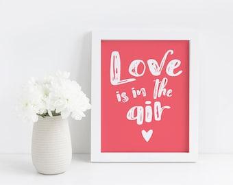 Valentine's Day Printable - Valentine's Day Decor - Valentine's Day Gift - Valentine's Day Wall Art - Valentine's Day Sign - Home Decor