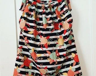 Floral & Stripes pillow case dress