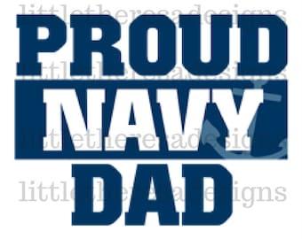 Proud Navy Dad Transfer , Digital Transfer, Digital Iron On,DIY