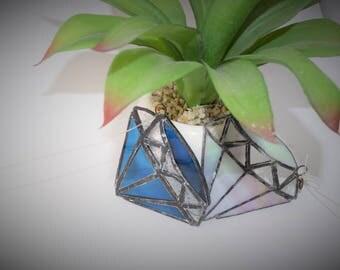 Diamond stained glass sun catchers