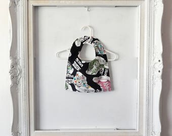 Square Baby Bib for a Cool Girl