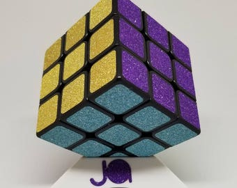 Glitter Puzzle Cube