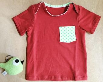Tee-shirt en jersey brique