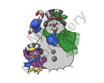 Frosty The Snowman - Machine Embroidery Design