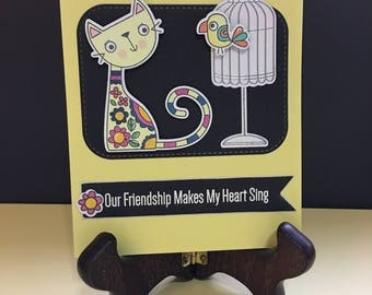Friendship card for cat lovers