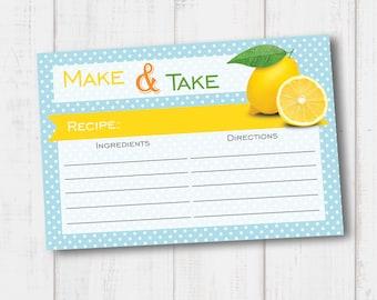 Lemon Make & Take Recipe Card