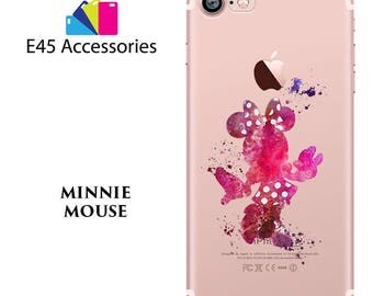 MINNIE MOUSE Disney Watercolour Hard Case for iPhone 5S 5 SE, iPhone 6S 6 or iPhone 7