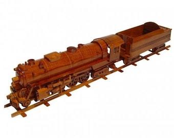 Hudson Train Wooden Model - Made of Mahogany Wood