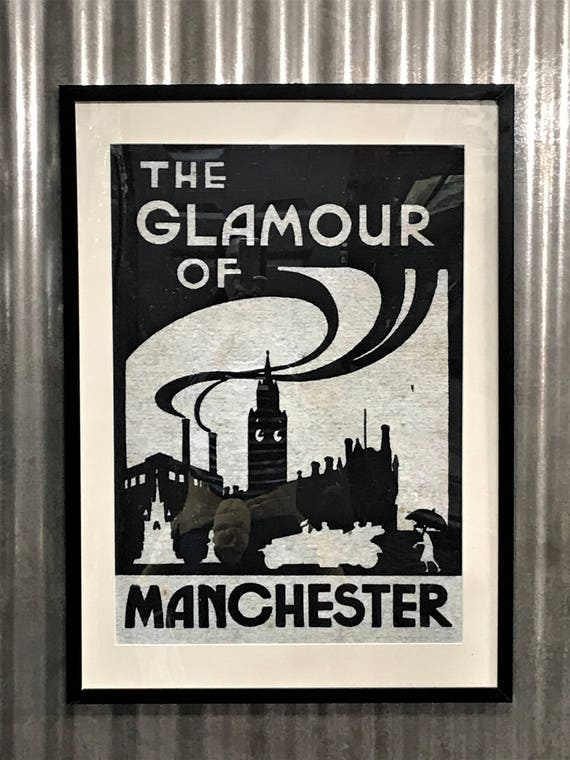 The Glamour of Manchester framed digital print on canvas paper