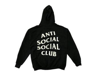 Anti Social Social Club Logo Pullover Hoodie Black White || Great Quality, Kanye, Pablo, Vlone, SupremeNYC