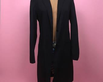 Black lightweight maxi blazer M