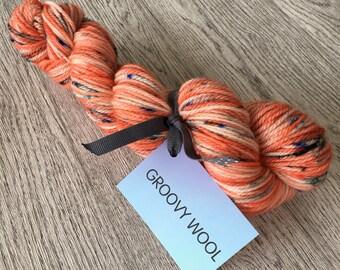 MANDARIN. 100% Superwash Merino Wool.